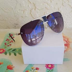 Other - 2019  AVIATOR STYLE CLEAR LENS 2 TONE UNISEX SUNGL